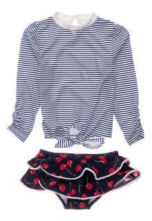 Snapper-Rock---UV-zwemset-voor-baby-meisjes---Longsleeve---Ma-Cheri---Blauw/Wit