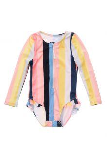 Snapper-Rock---UV-zwempak-voor-baby-meisjes---Longsleeve---Opti-Stripe---Multi