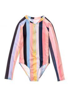 Snapper-Rock---UV-zwempak-voor-meisjes---Longsleeve---Opti-Stripe---Multi