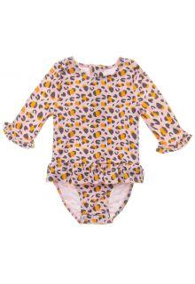 Snapper-Rock---UV-zwempak-voor-baby-meisjes---Longsleeve---Leopard-Love---Roze