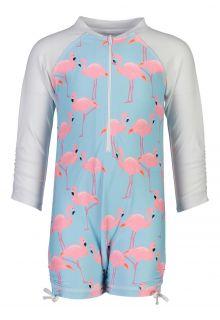 Snapper-Rock---UV-Zwempak-Longsleeve-voor-baby's---Flamingo-Social---Lichtblauw-