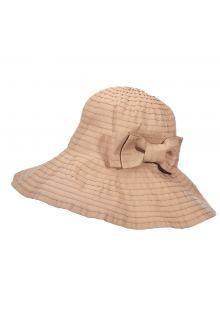 Scala---Oprolbare-hoed-met-strik-voor-dames---Beige