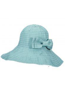 Scala---Oprolbare-hoed-met-strik-voor-dames---Blauw