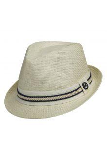 Tropical-Trends---Papier-gevlochten-Fedora-hoed-voor-dames---blauw