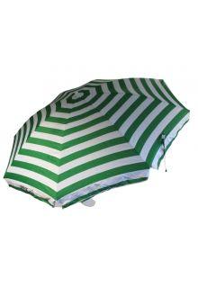 Banz---UV-Strand-parasol---165/200cm-x-180cm---Groen/Wit-gestreept