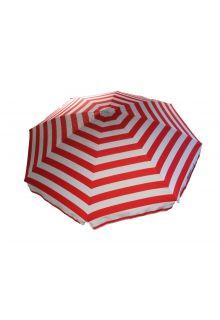 Banz---UV-Strand-parasol---165/200cm-x-180cm---Rood/Wit-gestreept