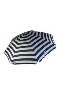 Banz---UV-Strand-parasol---165/200cm-x-180cm---Blauw/Wit-gestreept