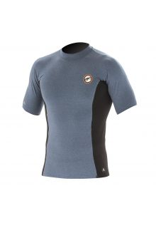 Prolimit---Zwemshirt-voor-heren-met-korte-mouwen---Grijs-/-zwart