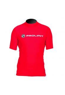 Prolimit---Zwemshirt-voor-heren-met-korte-mouwen---Rood