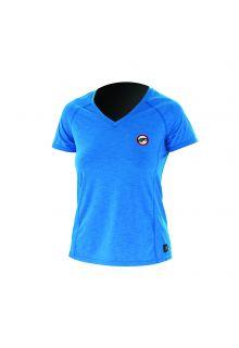 Prolimit---UV-shirt-voor-dames-met-korte-mouwen---Felblauw-/-roze