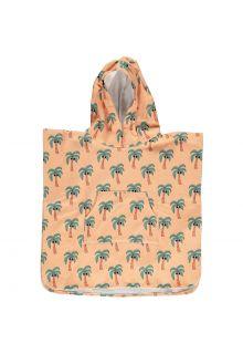 Beach-&-Bandits---Strandponcho-voor-kinderen---Palm-Breeze---Sunny-Cream
