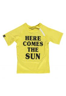 Beach-&-Bandits---UV-zwemshirt-kind---Here-comes-the-Sun---Geel