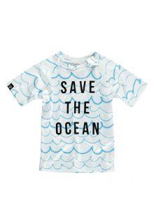 Beach-&-Bandits---UV-zwemshirt-kind---Save-the-ocean---Blauw-wit