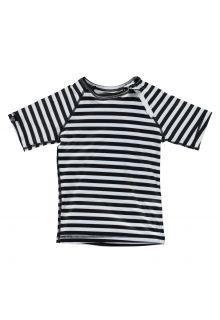 Beach-&-Bandits---UV-zwemshirt-kind---Stripe-Tee---Zwart-wit-gestreept