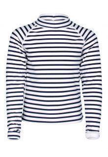 JUJA---UV-Zwemshirt-voor-meisjes---lange-mouwen---Sailor---Wit/Blauw