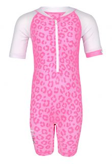 JUJA---UV-Zwempak-voor-baby's---korte-mouwen---Leopard---Roze