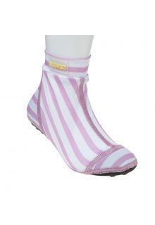 Duukies---Meisjes-UV-strandsokken---Stripe-Pink-White---Roze-streep