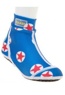 Duukies---Jongens-UV-strandsokken---Star-Red---Blauw-
