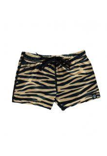 Beach-&-Bandits---UV-Zwemshorts-voor-kinderen---Tiger-Shark---Bruin
