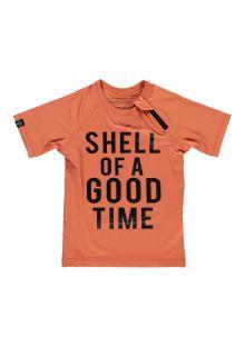 Beach-&-Bandits---UV-Zwemshirt-voor-kinderen---Shell-of-A-Good-Time---Klei