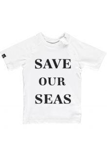Beach-&-Bandits---UV-Zwemshirt-voor-kinderen---Save-Our-Seas---Wit