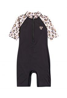 Billabong---UV-Zwempak-voor-meisjes---Korte-mouw---Billie-Logo---Off-Black