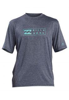 Billabong---UV-Zwemshirt-voor-heren---Korte-mouw---Unity---Navy-gemêleerd