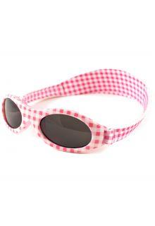 Banz---UV-beschermende-zonnebril-voor-kinderen---Bubzee---Roze-geblokt