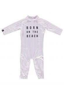 Beach-&-Bandits---UV-zwempak-voor-baby's---Beach-Girl---Roze/Wit