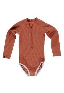 Beach-&-Bandits---UV-zwempak-voor-meisjes---Ribbed-Collectie---Aarde