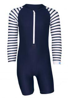 JUJA---UV-Zwempak-voor-baby's---lange-mouwen---Stripes---Donkerblauw