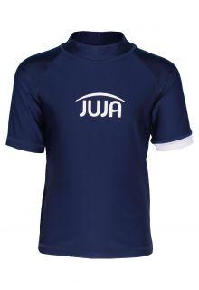 JUJA---UV-Zwemshirt-voor-kinderen---korte-mouwen---Solid---Donkerblauw