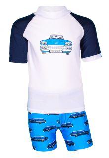 JUJA---UV-Zwemset-voor-jongens---Oldtimer---Wit/Blauw