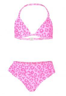 JUJA---Bikini-voor-meisjes---Leopard-Ruches---Roze
