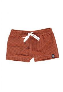 Beach-&-Bandits---UV-zwemshorts-voor-kinderen---Ribbed-Collectie---Aarde