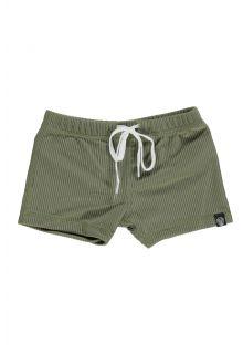 Beach-&-Bandits---UV-zwemshorts-voor-kinderen---Ribbed-Collectie---Palm