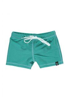 Beach-&-Bandits---UV-zwemshorts-voor-kinderen---Ribbed-Collectie---Lagune