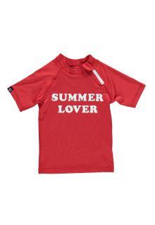 Beach-&-Bandits---UV-shirt-voor-kinderen---Summer-lover---rood