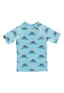 Beach-&-Bandits---UV-shirt-voor-kinderen---Surf's-Up---lichtblauw