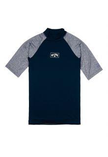 Billabong---UV-Zwemshirt-voor-heren---Korte-mouw---Contrast---Marineblauw