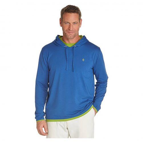 Coolibar---UV-hoodie-heren---blauw