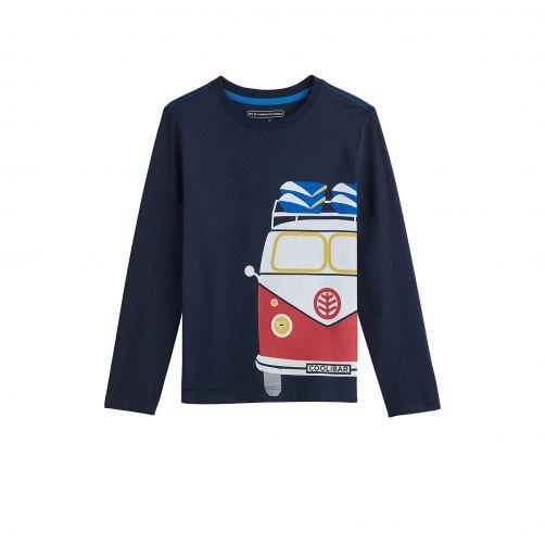 Coolibar---UV-shirt-voor-kinderen---Donker-met-opdruk-vintage-van-Camper