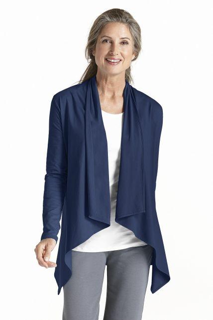 Coolibar---UV-Sun-Wrap-Vest-voor-dames---Marietas---Navy
