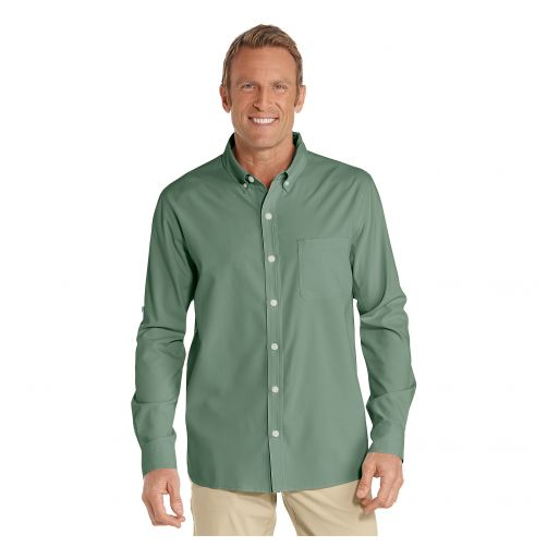 Coolibar---UV-Overhemd-voor-heren---Aricia-Sun-Shirt---Olijfgroen