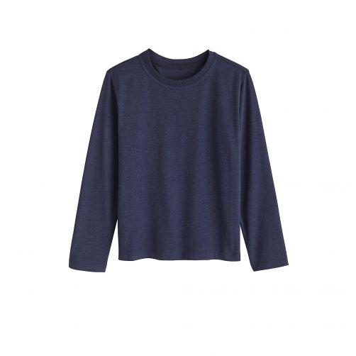 Coolibar---UV-shirt-voor-kinderen-lange-mouwen---Midnight-blauw