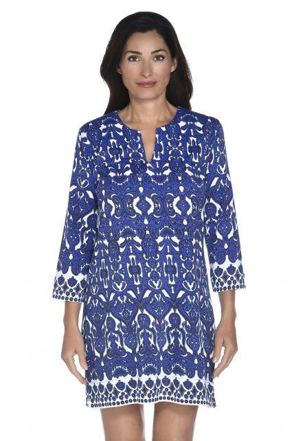 Coolibar---UV-jurk-Dames---Moroccan-Cobalt