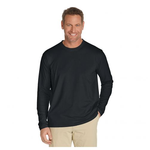 Coolibar---UV-Longsleeve-shirt-voor-heren---Zwart