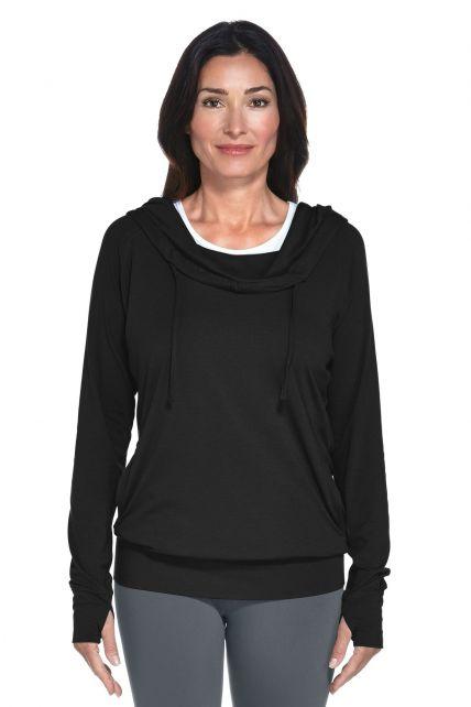 Coolibar---UV-hoodie-dames---Zwart