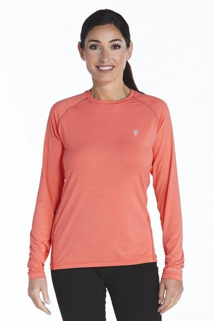 Coolibar---UV-sport-longsleeve-shirt-dames---rood
