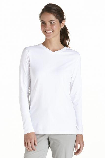Coolibar---UV-longsleeve-shirt-dames---wit